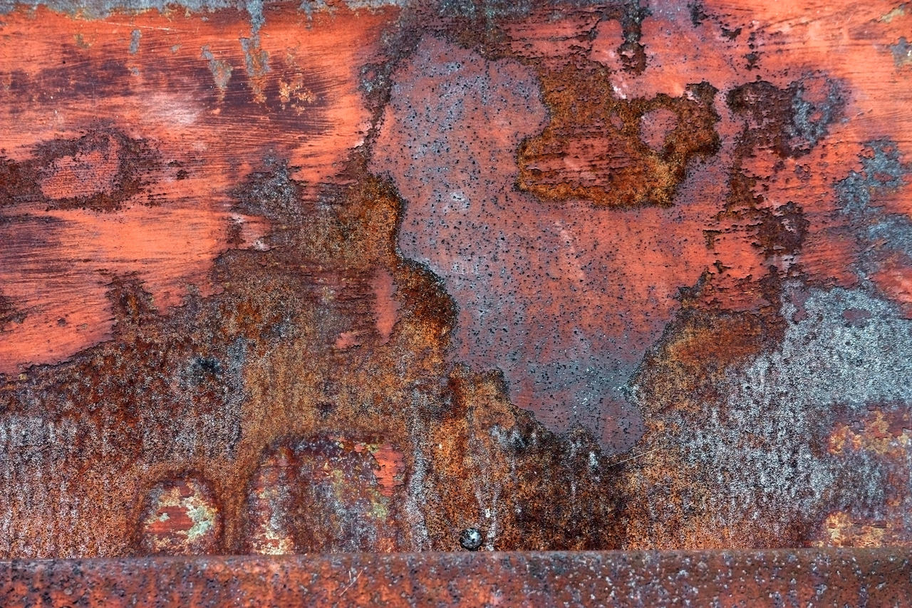 Painting Of Rusted Metal And Factory