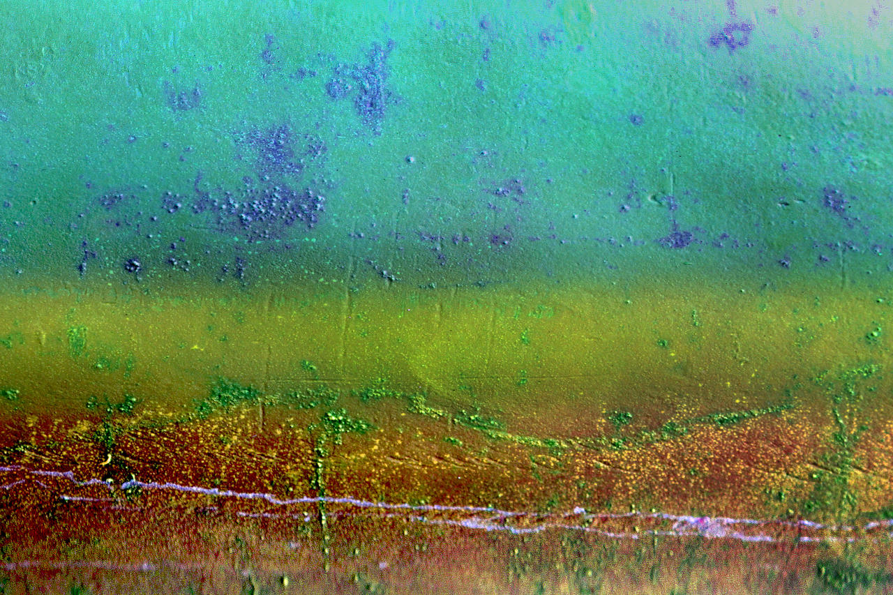 Muted Submarine Dayglo Expressionist Abstract by aegiandyad