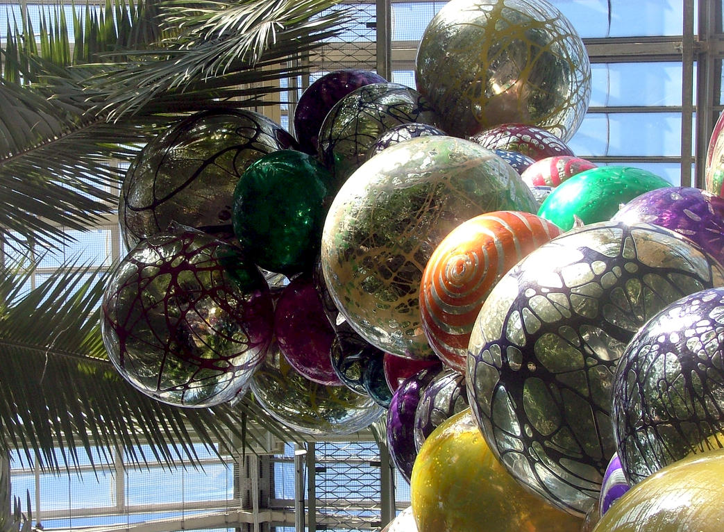 Chihuli Glass Balls Hanging In Kew Temperate House by aegiandyad
