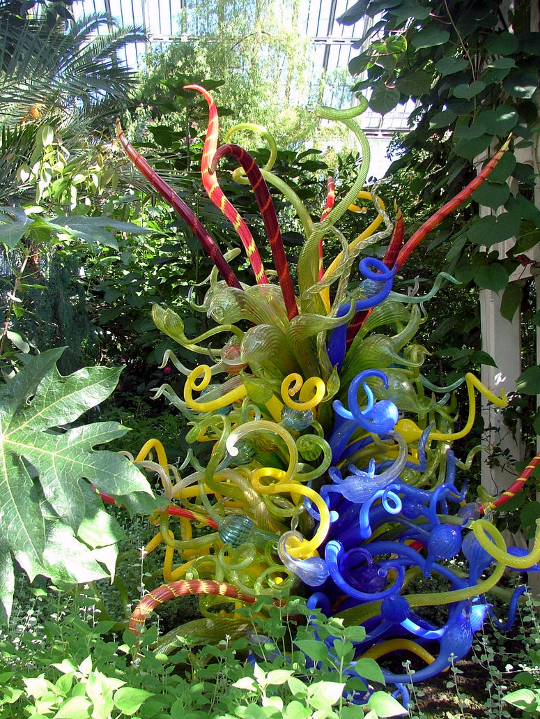 Screwy Chihuli Glass Biomorphs At Kew In 2007 by aegiandyad