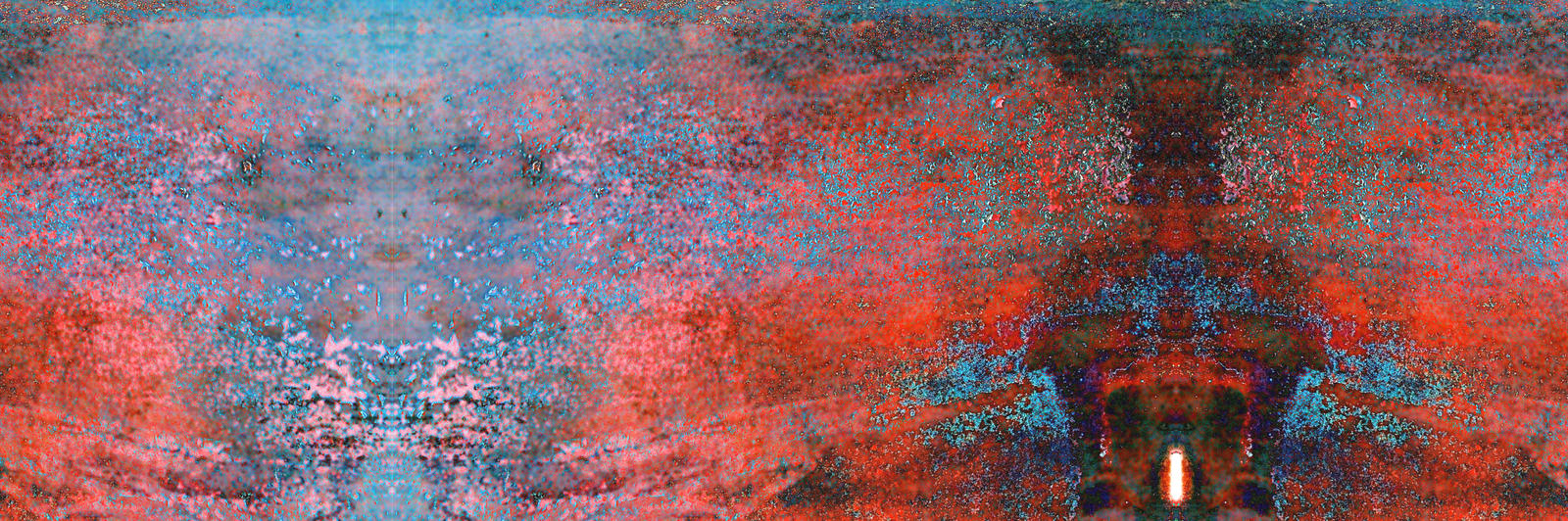 Wide Screen Red Door Abstract  Expressionism by aegiandyad