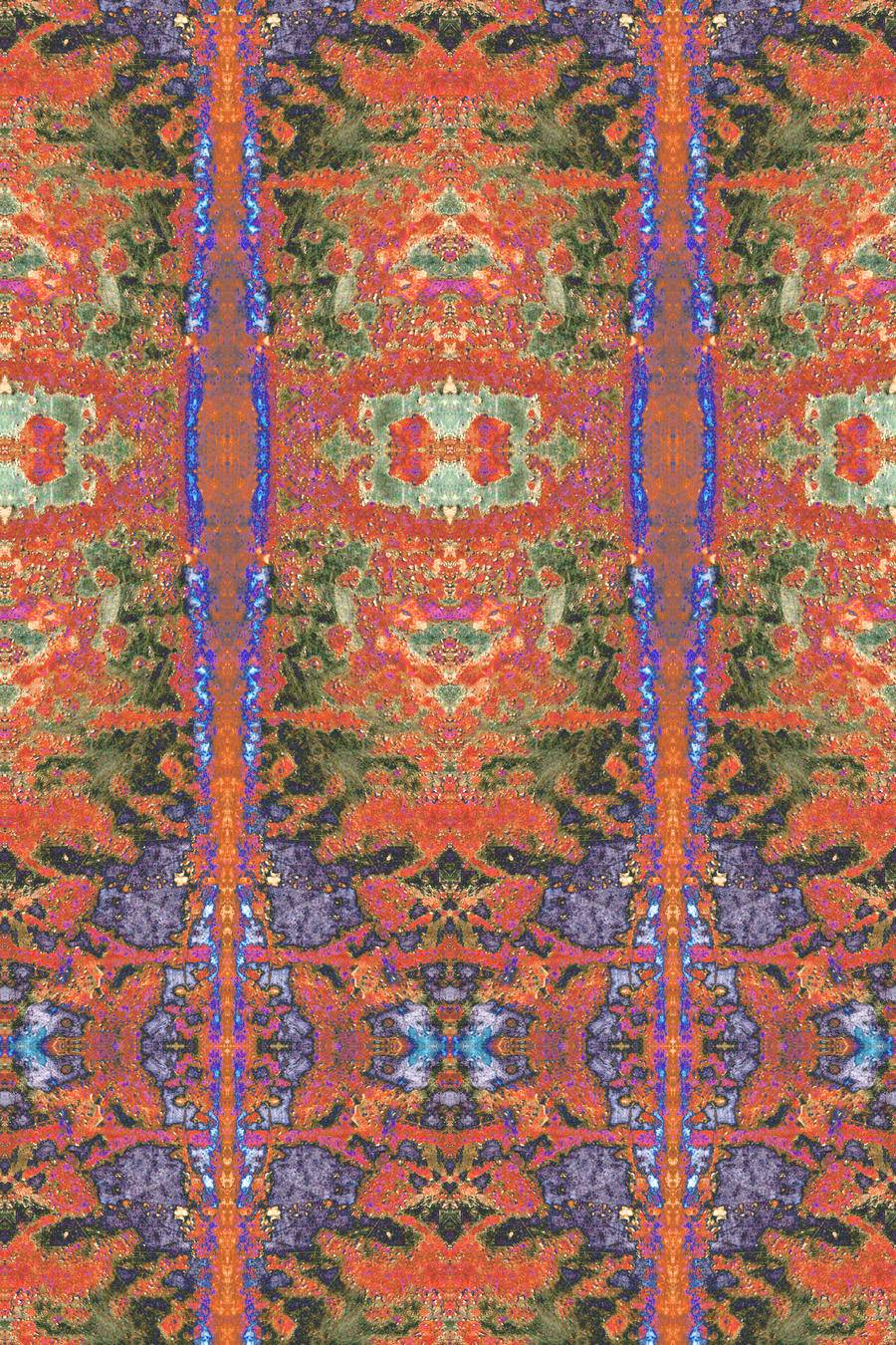 Solarised Truck Tailgate Detail Persian Carpet by aegiandyad