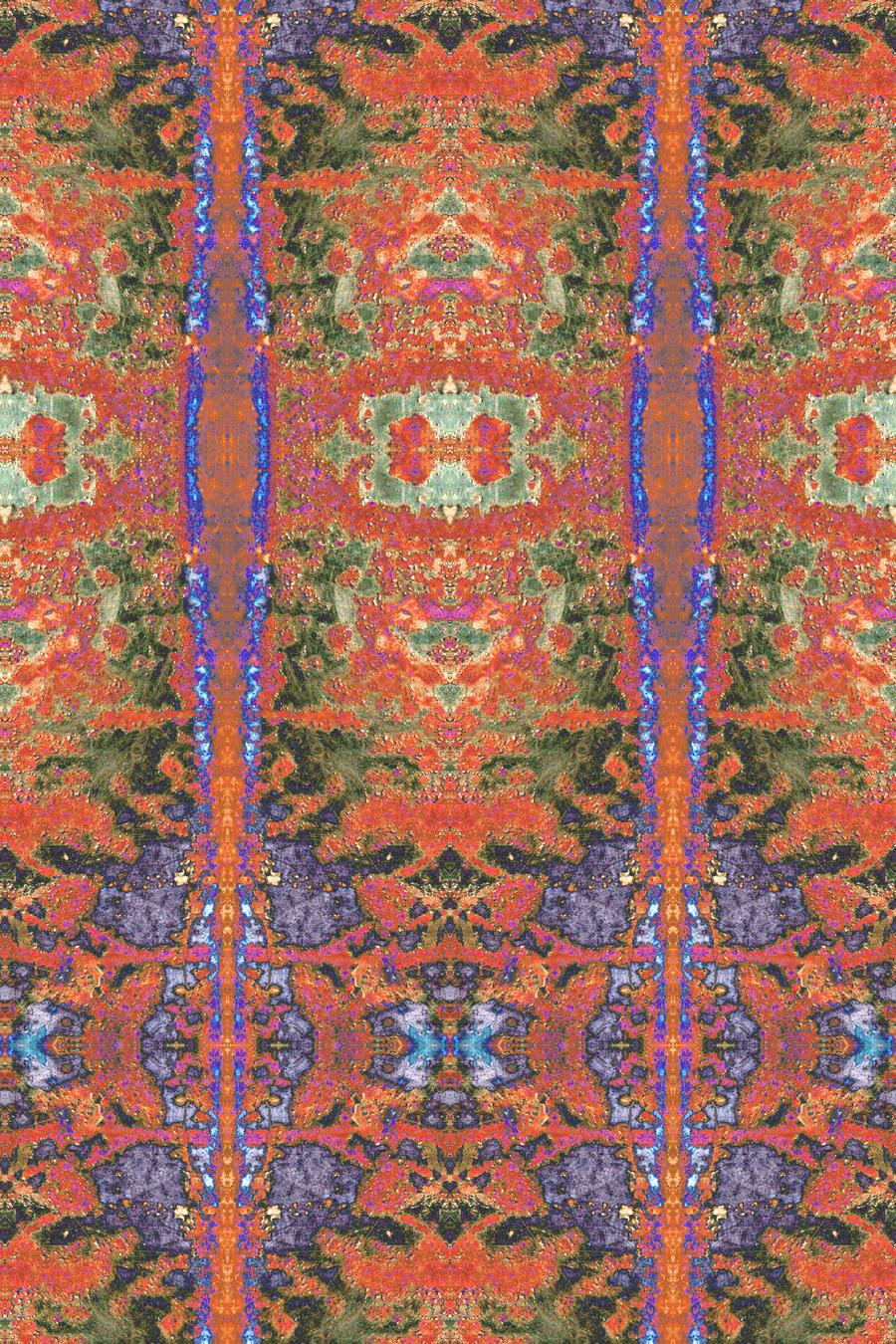 Solarised Truck Tailgate Detail Persian Carpet by aegiandyad