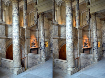 Stairwayoscopic View Of V And A Interior by aegiandyad