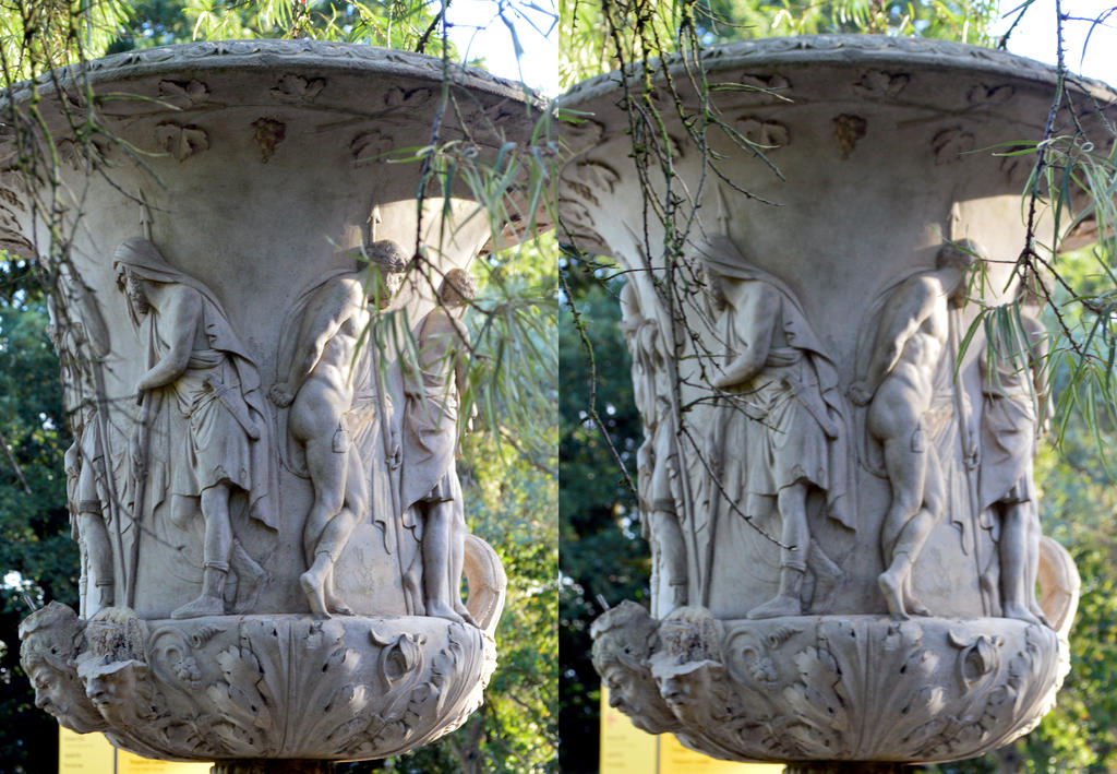 The Shaded Side Of An Antique Garden Urn At Kew By Aegiandyad ...