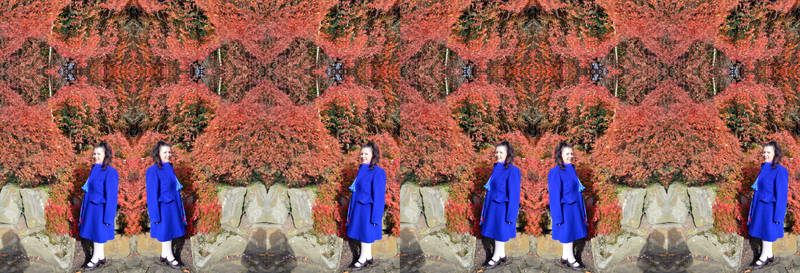 Mrs A* Stands Back In Amazement Stereo Triptych
