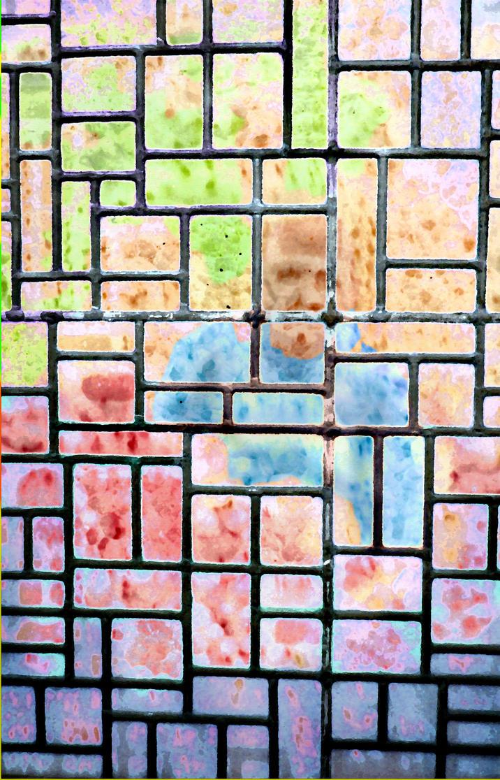 Stedelijk Leaded Glass Mondrian Tribute Transform by aegiandyad
