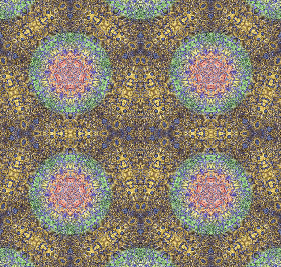 Solarised Inverted Gormenghast Sea Urchin Tile