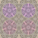 Fuchsia Phantasmapentagram Tile For Gormenghast