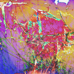 Rainbow Fire Fake Abstract Painting