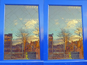 Fractured Skyline Stereoscopic Fake Watercolour