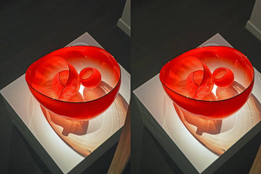 Chihuli Blown Glass Art Piece In Stereoscopic 3-D
