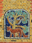 The Fox, The Owl And The Squirrel Mosaic