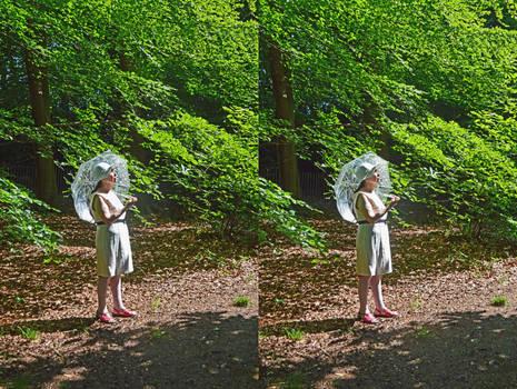 Mrs aegiandyad Enjoying Coombe Wood, Early Summer