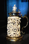 Fake Painting Of Carved Ivory Decorated Tankard