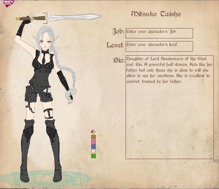 Inuyasha OC Mitsuko 3 by PrincessLacusClyn