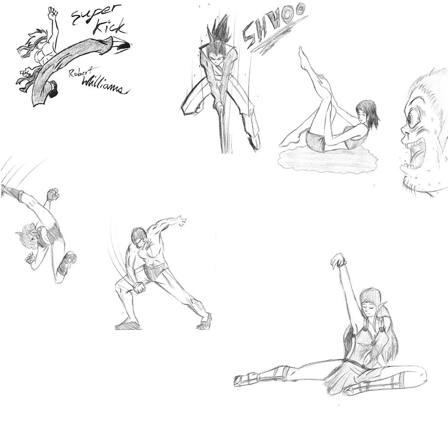 Drawing dump 3 fight poses and more by AnimationsByRobert ...