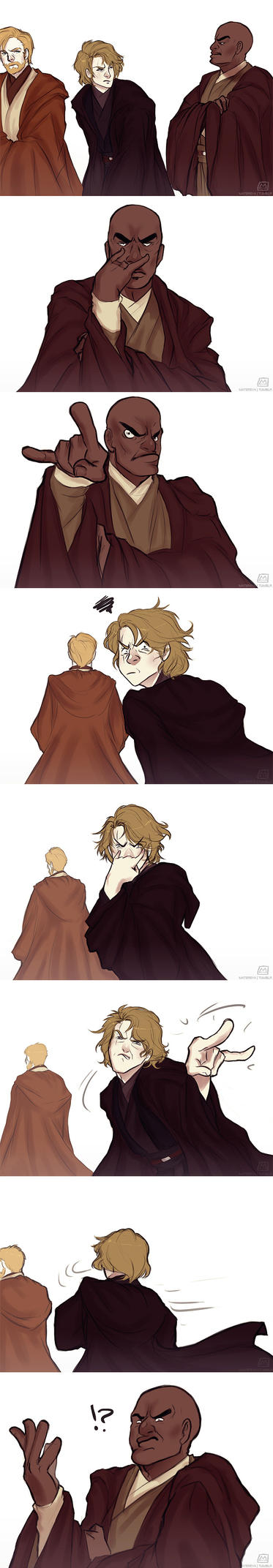 I've got my eyes on you, Skywalker by Matereya