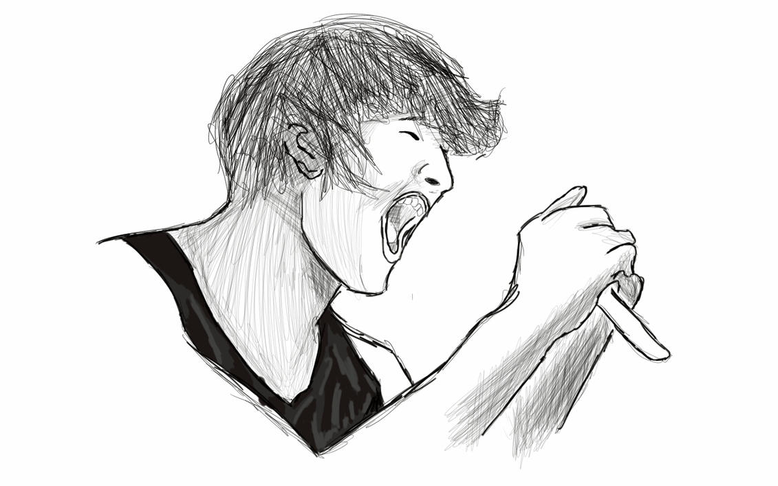 Displaying 20> Images For - Mitch Lucker Angel Drawing...