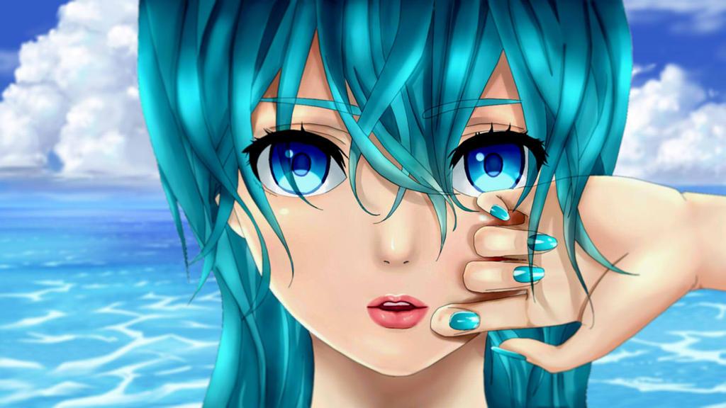 Anime girl at beach by 100csilla on deviantart - Beach anime girl ...