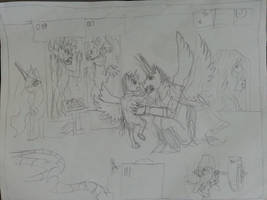 mlp the past of Celesto sketch by dragon0693