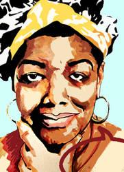 Maya Angelou 1928-2014 by sergio323