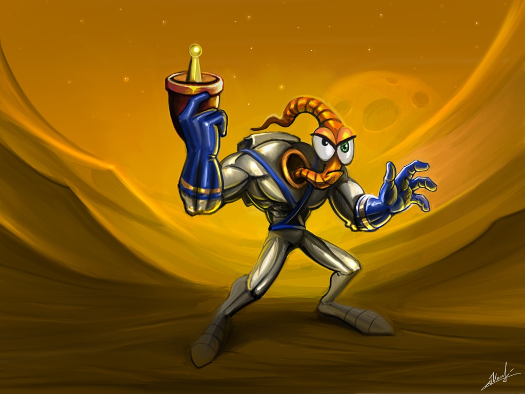 Earthworm Jim by SidharthChaturvedi on DeviantArt