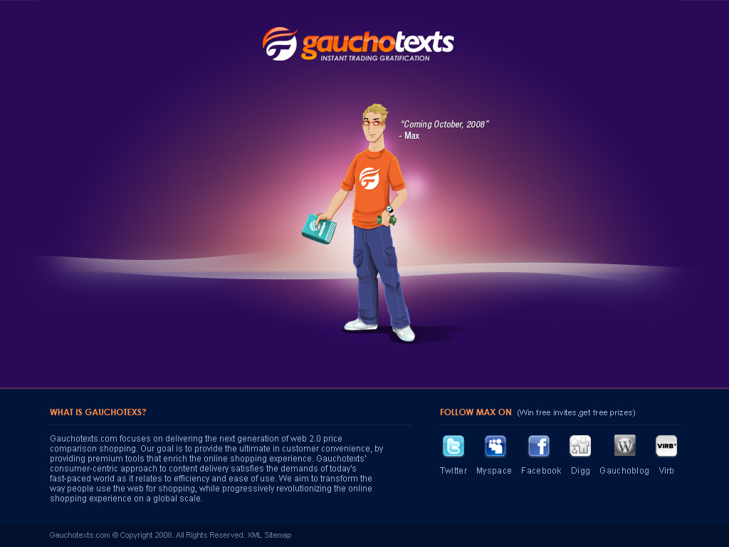 Gauchotexts.com Landing Page by depthskins
