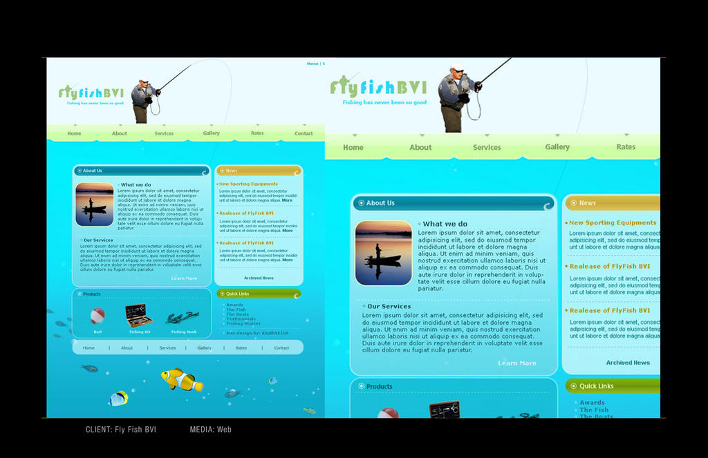 Fishing Website by depthskins