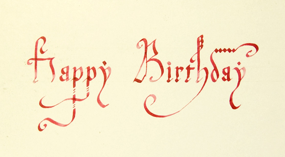 Birthday card calligraphy by ptitov on deviantart