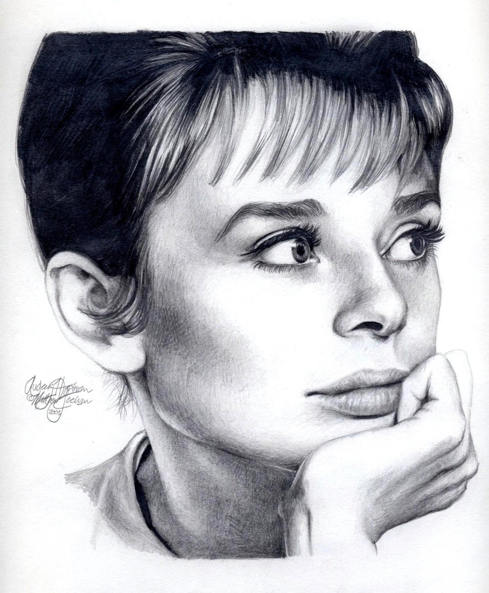 Audrey Hepburn 161 graphite by Ethan-Carl