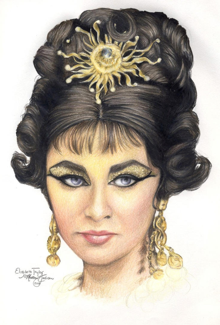 Elizabeth Taylor 2 colored pen by Ethan-Carl