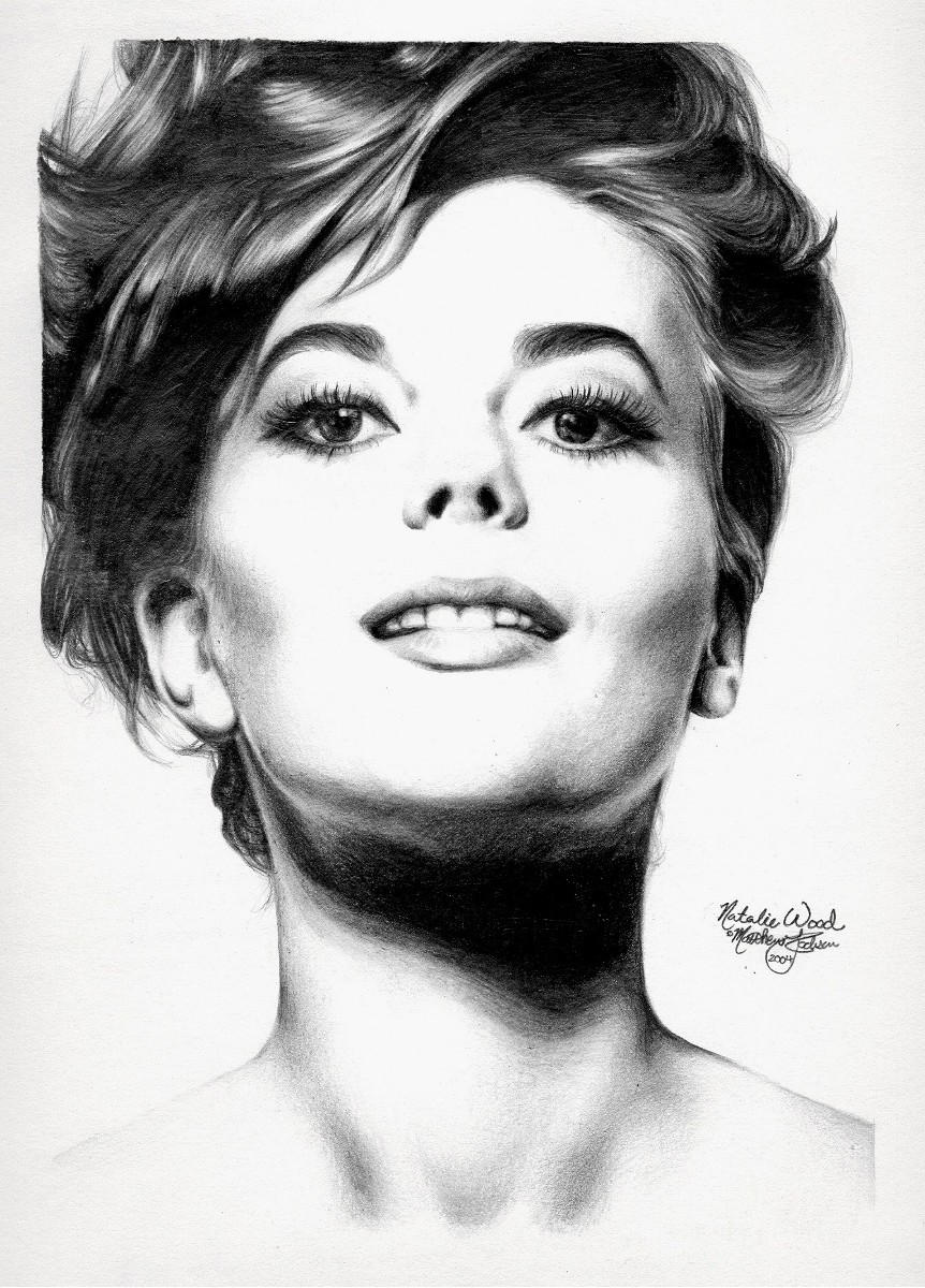 Natalie Wood 2 graphite by Ethan-Carl
