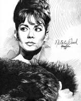 Natalie Wood 1 black ink HD by Ethan-Carl