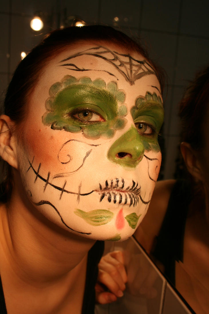 day of the dead makeup by SnowcoverStocks