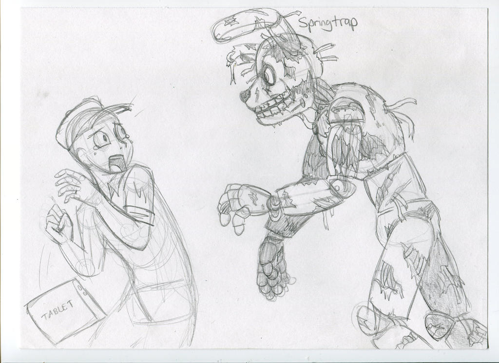Kohaku's Sketch Book - Springtrap's gonna get ya by KohakuKun19
