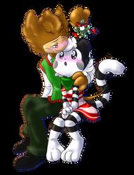 OC Coco x Tabitha with Mistletoe by TabbyWesa