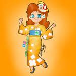 Kimono Daisy from Mario Kart Tour