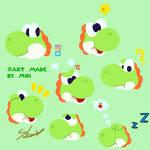 quick doodles of yoshi