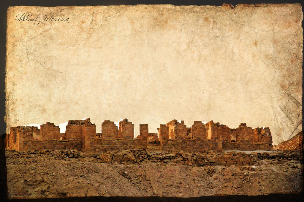Ruins on old paper by ShlomitMessica
