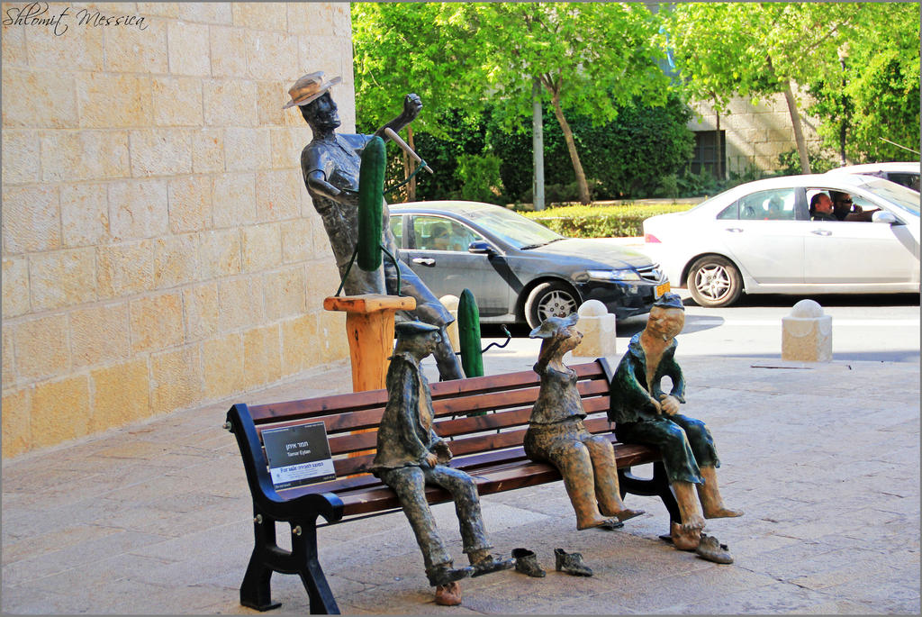 Occupied bench by ShlomitMessica