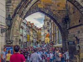 Festival crowd in Prague by ShlomitMessica