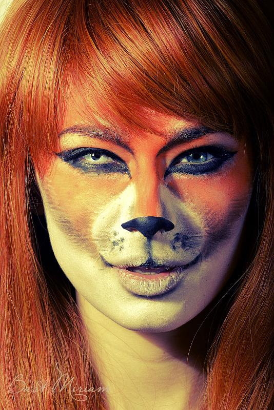 Lady Cat Face Paint