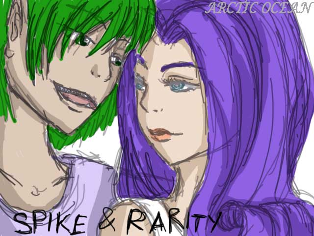 Rarity And Spike -human -love By ArcticOcean On DeviantArt