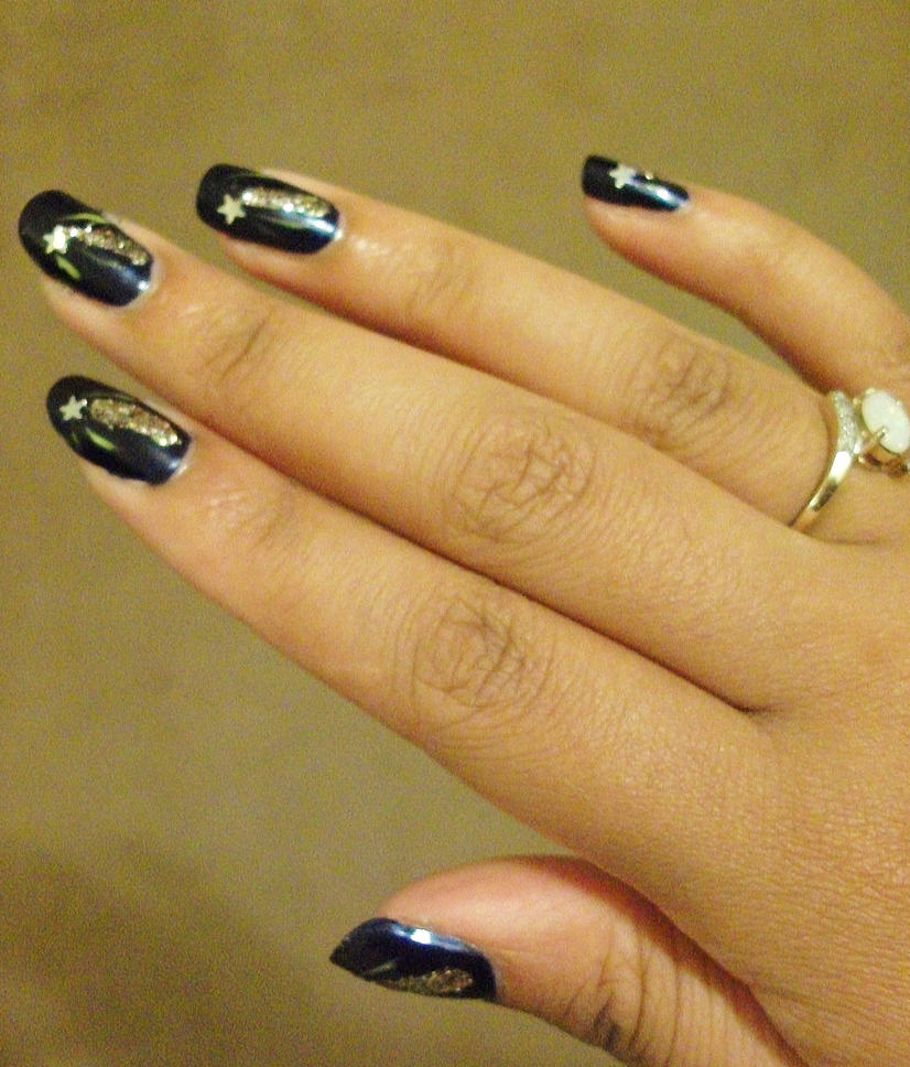 Nail design shooting stars by loveofmisty on deviantart nail design shooting stars by loveofmisty prinsesfo Images