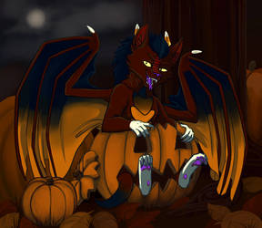 Spooky Pyrope by DragonScribblez