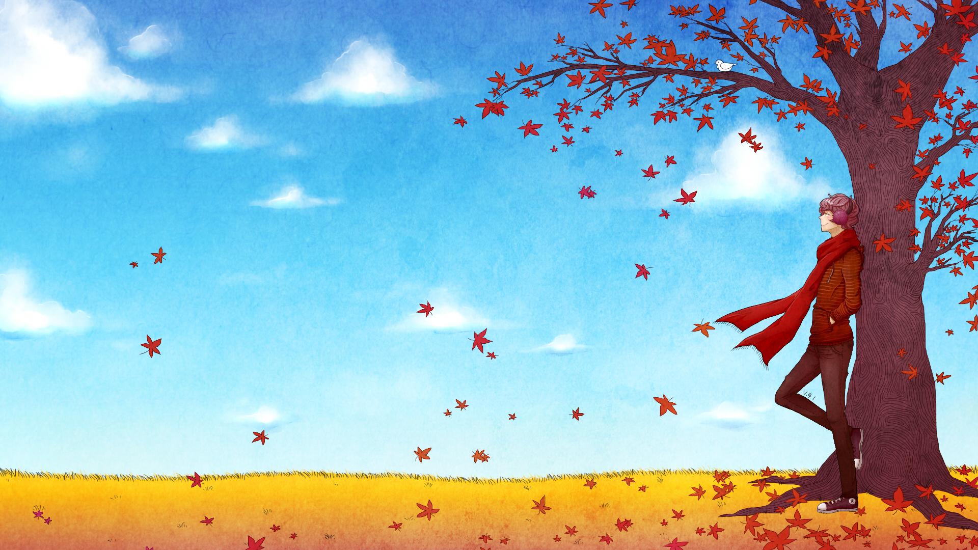 v4 1colour desktop background fall theme by shyhl3