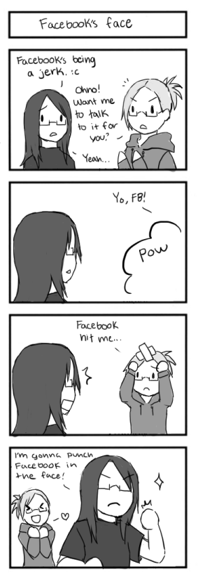 4koma- Facebook's Face by Jen-Jen-Rose