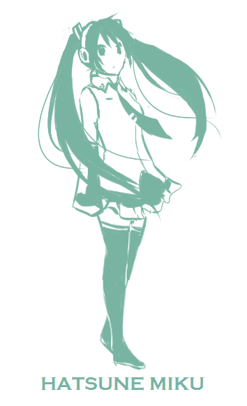 Miku::green by Jen-Jen-Rose