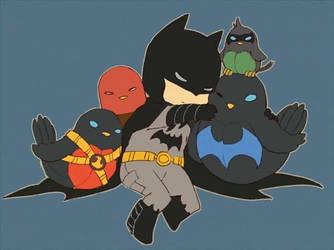 little bat family by moonlaen